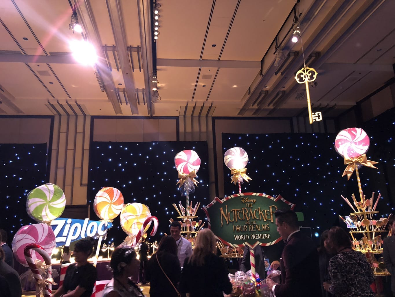 Walking the Red Carpet for Disney's Nutcracker and the Four Realms - sweets stand