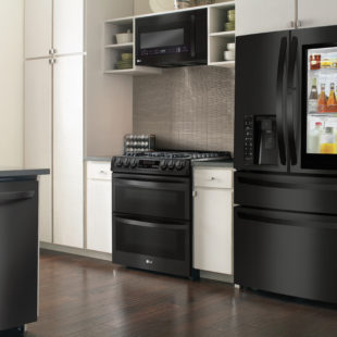 LG Matte Black Kitchen Appliances