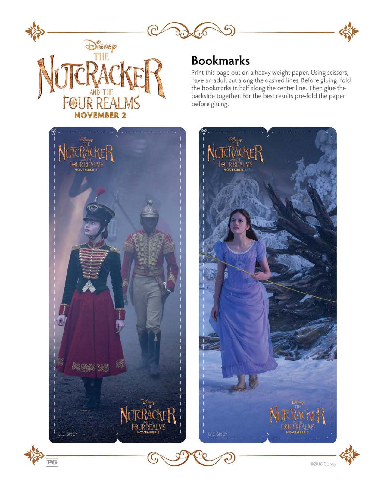 TheNutcrackerand the Four Realms activity pages