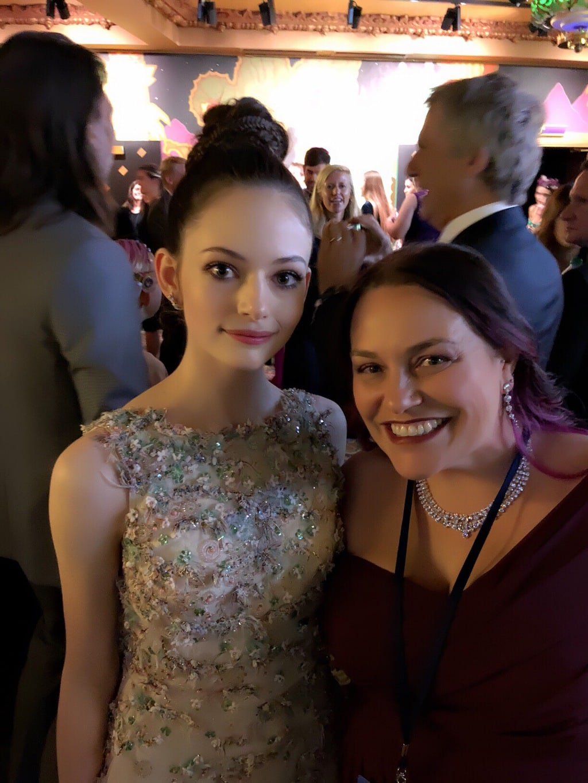 Mackenzie Foy, Jana Seitzer, Walking the Red Carpet for Disney's Nutcracker and the Four Realms