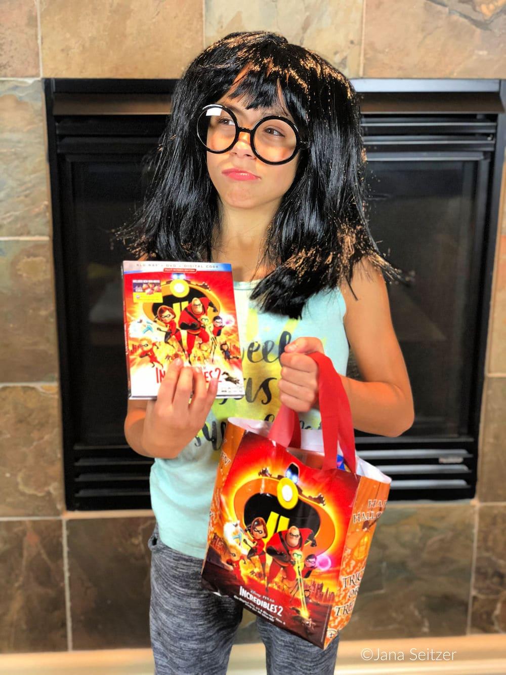 Incredibles 2 on Blu-Ray Nov. 6 - edna mode costume
