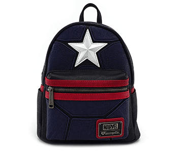 Loungefly x Marvel Captain America Costume Cosplay Mini Backpack