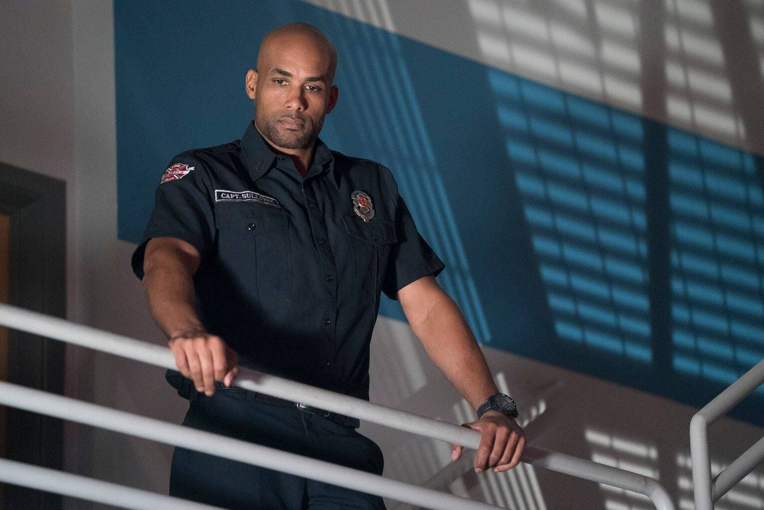 Visit the Set of Station 19 - Boris Kodjoe - Captain Sullivan