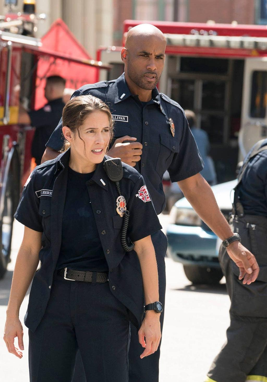 Visit the Set of Station 19 - Jaina Lee Ortiz - Boris Kodjoe