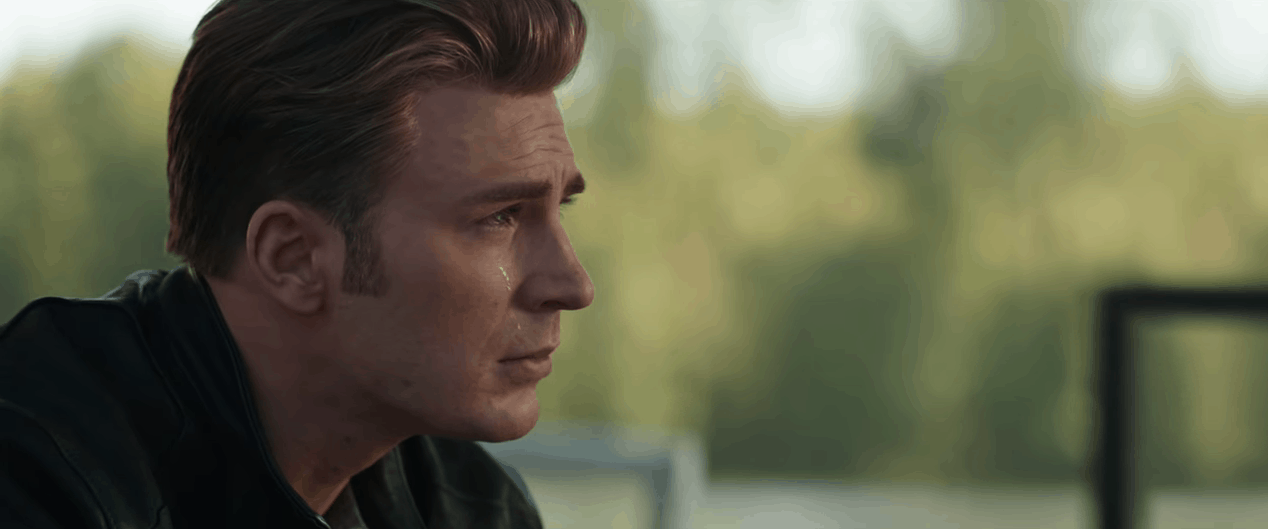 Avengers 4 End Game steve rogers crying