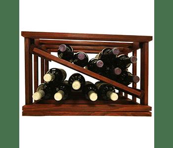 Mini Stack Wine Rack Diamond Slat