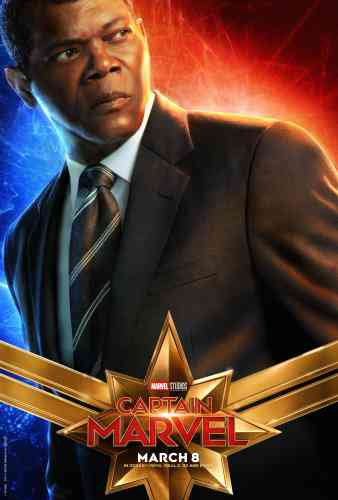 Captain MarvelCharacter Poster - Nick Fury