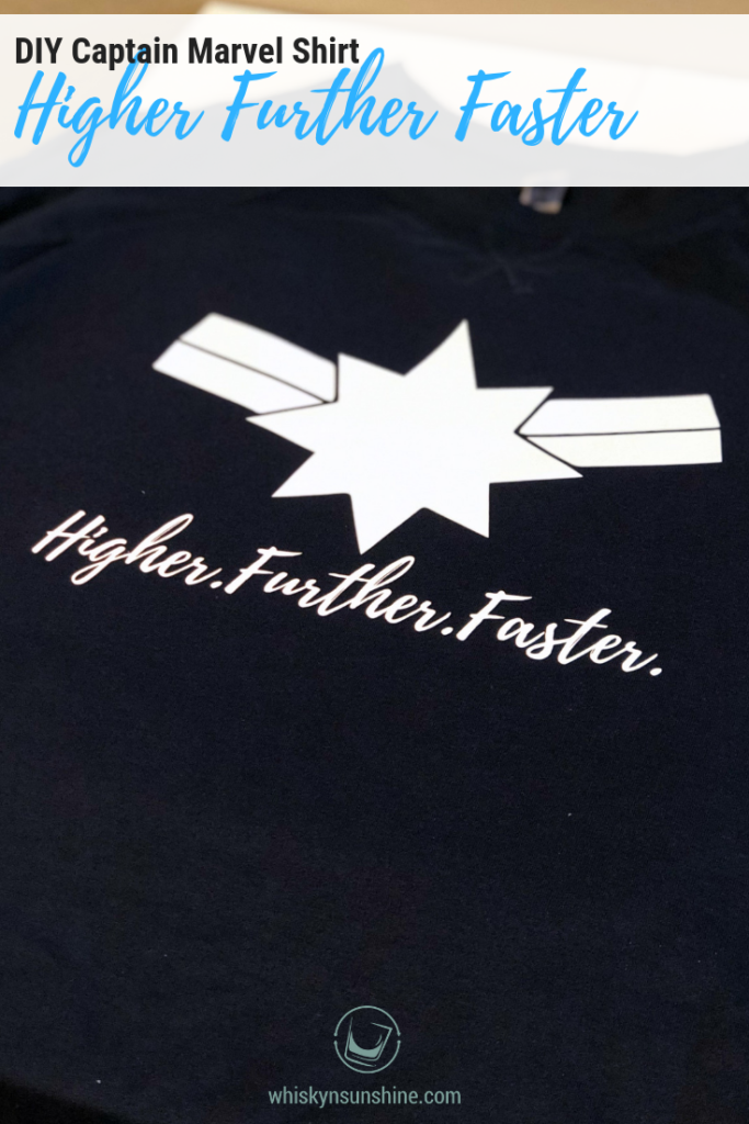 Captain Marvel Higher Further Faster Shirt