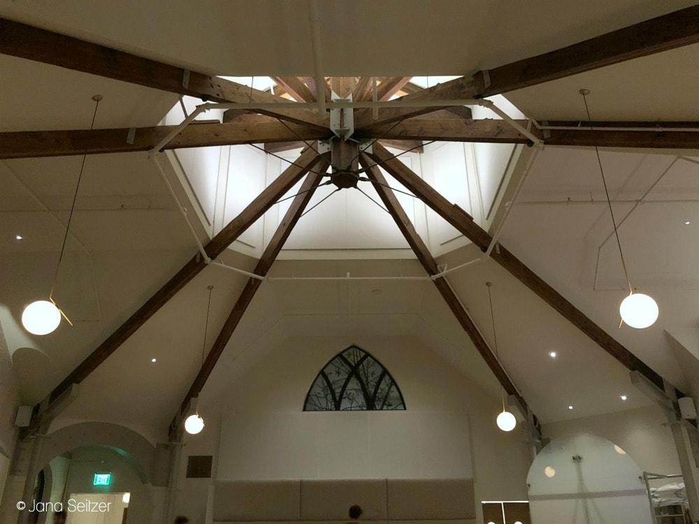 church ceiling in a restaurant