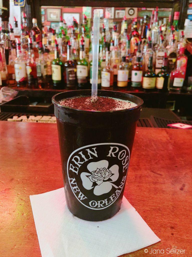 Erin Rose Bar Frozen Irish Coffee in New Orleans