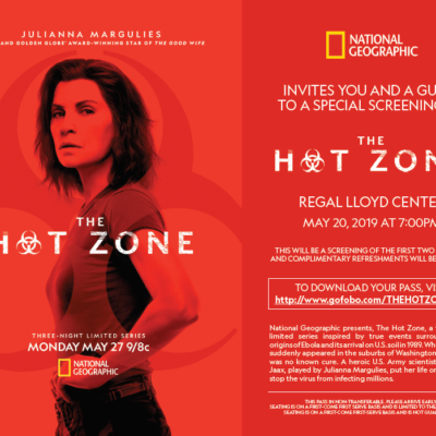 THE HOT ZONE Screening in Portland 5/20
