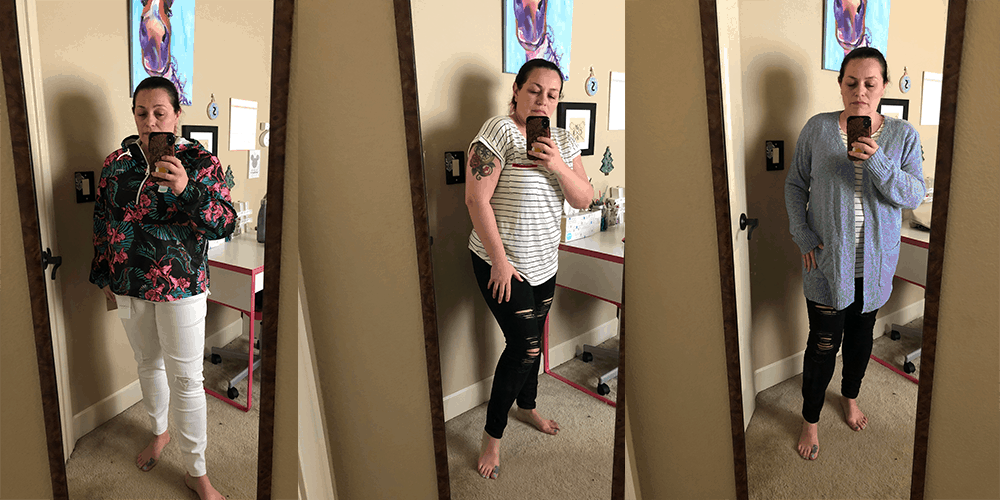 Stitch Fix mirror try on choices