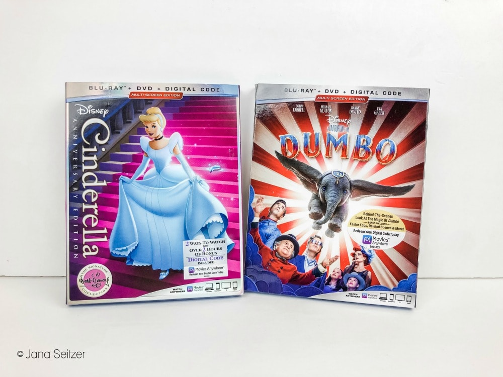 cinderella dumbo bluray dvd