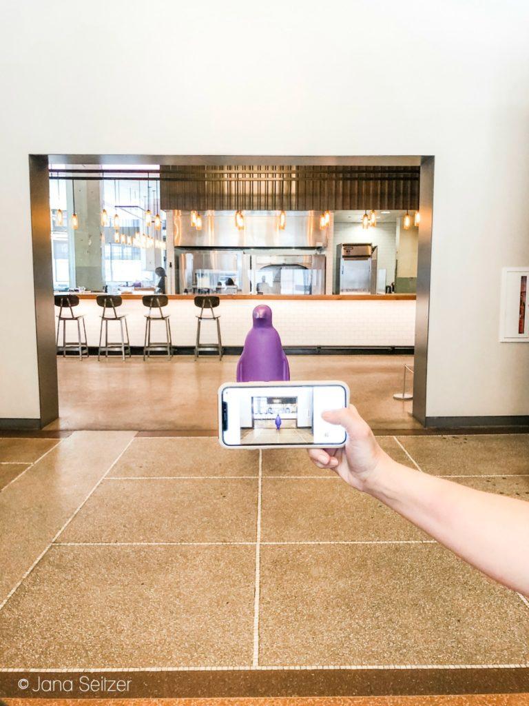 purple penguin at 21c Museum Hotel OKC