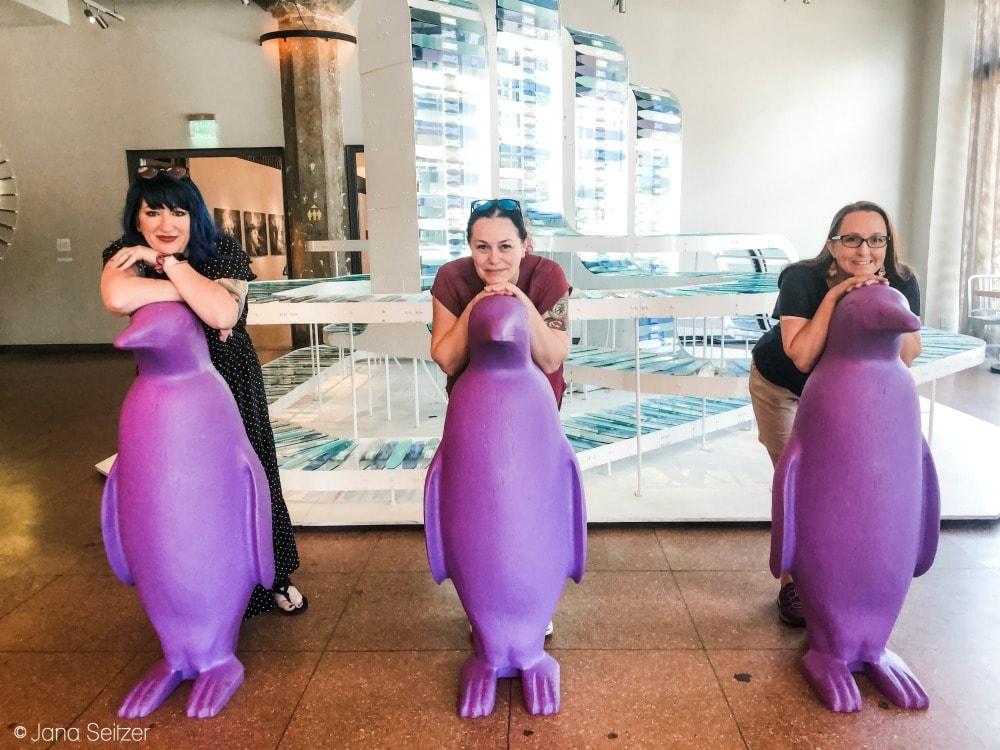 purple penguin trio 21c Museum Hotel OKC