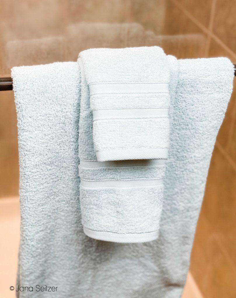 micro cotton towels sea glass