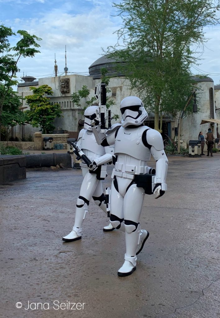 Stormtroopers at Star Wars: Galaxy's Edge
