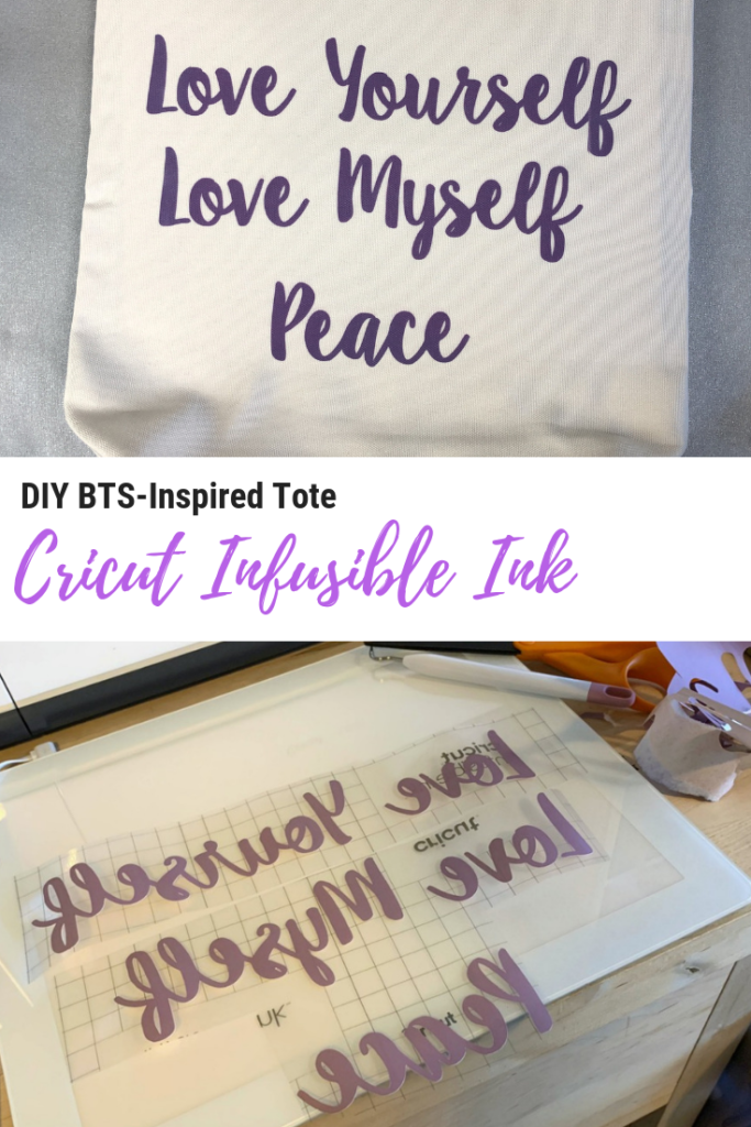 DIY BTS-Inspired Tote with Cricut Infusible Ink
