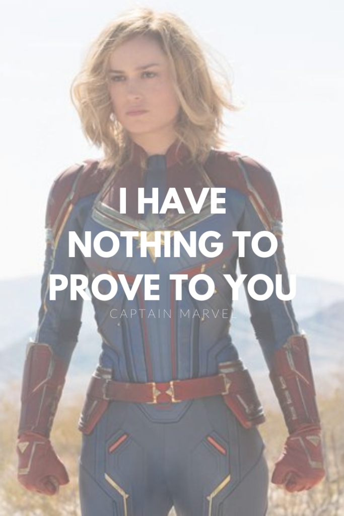 I have nothing to prove to you