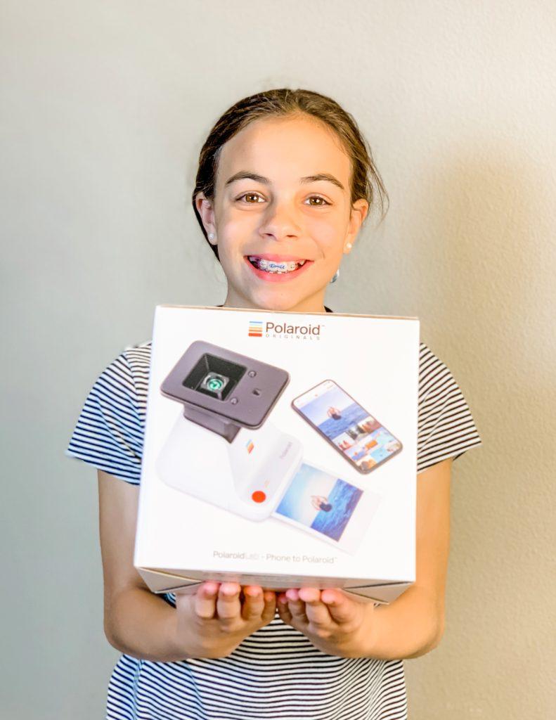 child with Polaroid Lab
