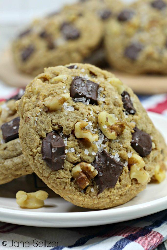 Bourbon Chocolate Chunk Cookies