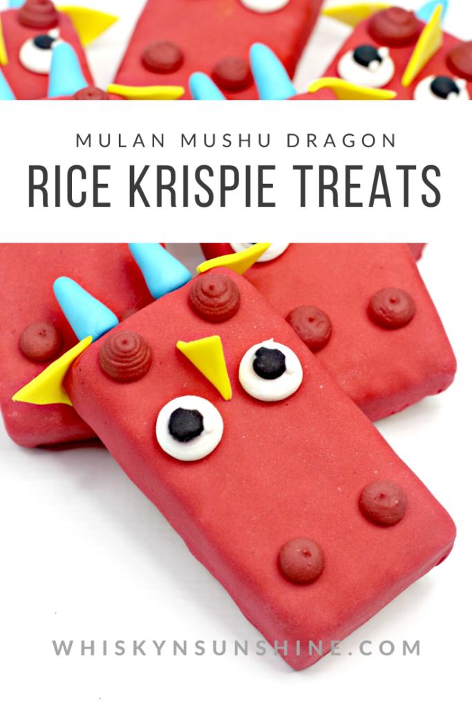 mulan rice krispie treats