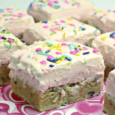 Valentine's Day Sugar Cookie Bars