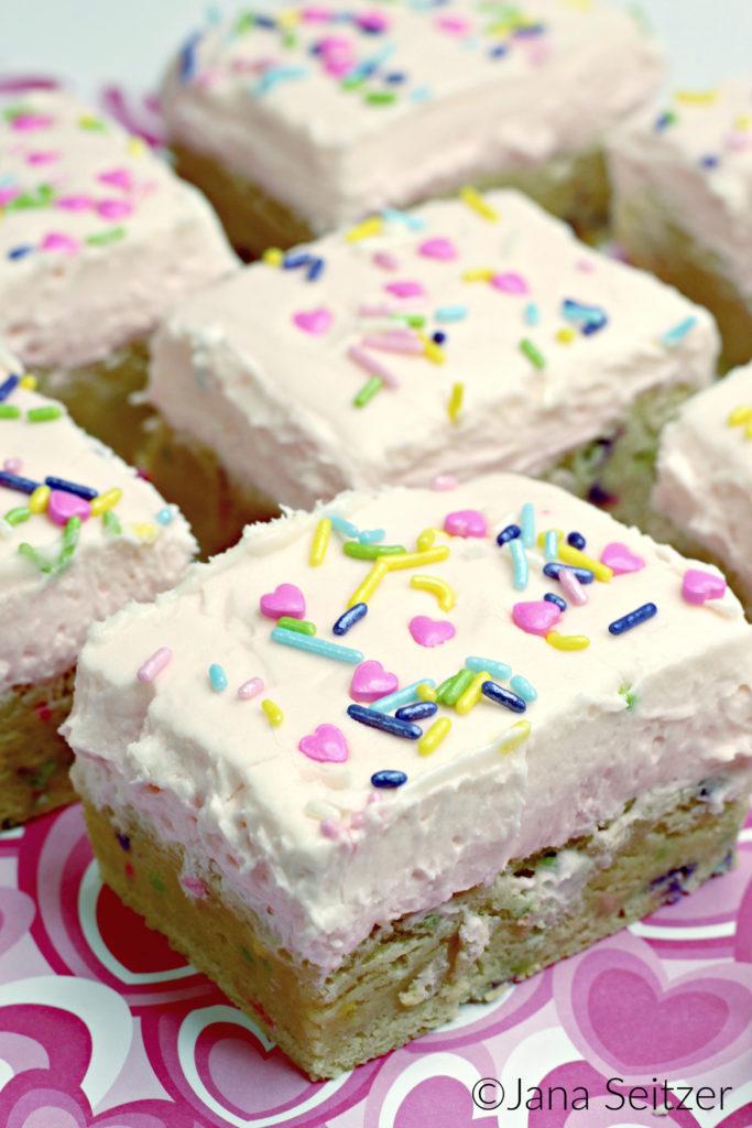 Valentines Day Sugar Cookie Bars