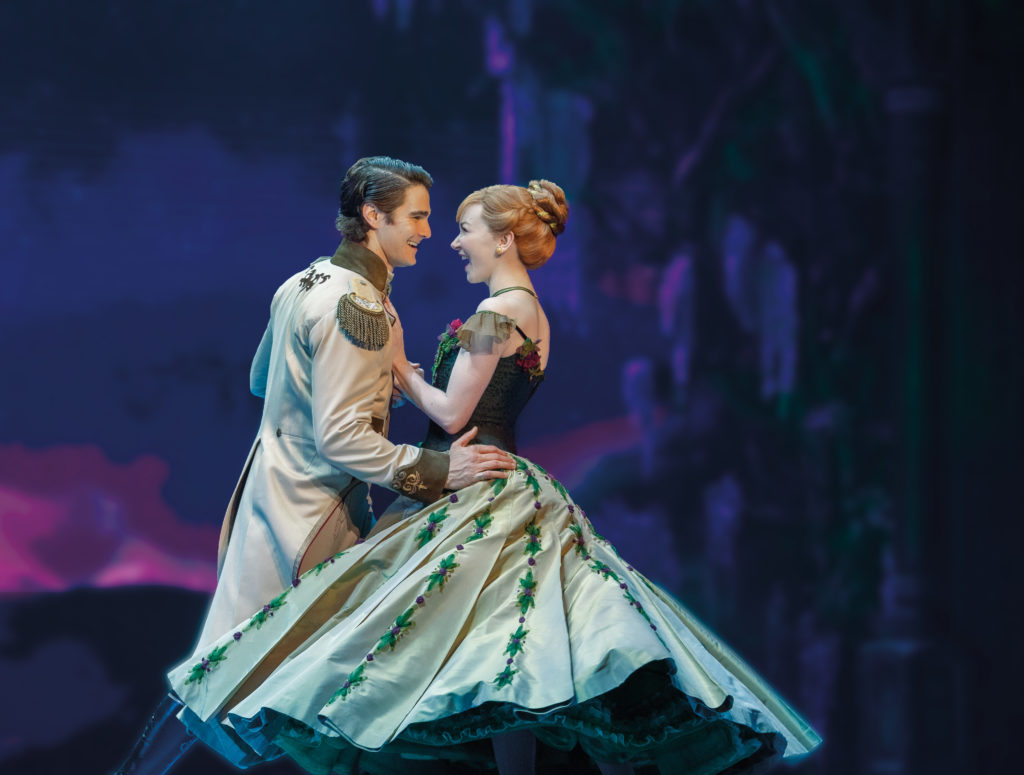 Austin Colby as Hans and Caroline Innerbichler as Anna in Frozen, North American Tour. Photo by Deen van Meer.