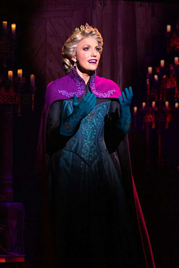 Caroline Bowman as Elsa in Frozen, North American Tour. Photo by Deen van Meer.