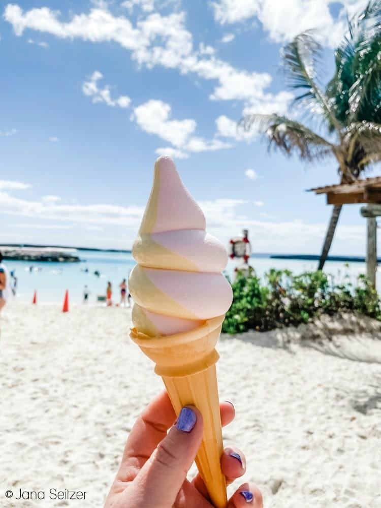 disney castaway cay ice cream swirl