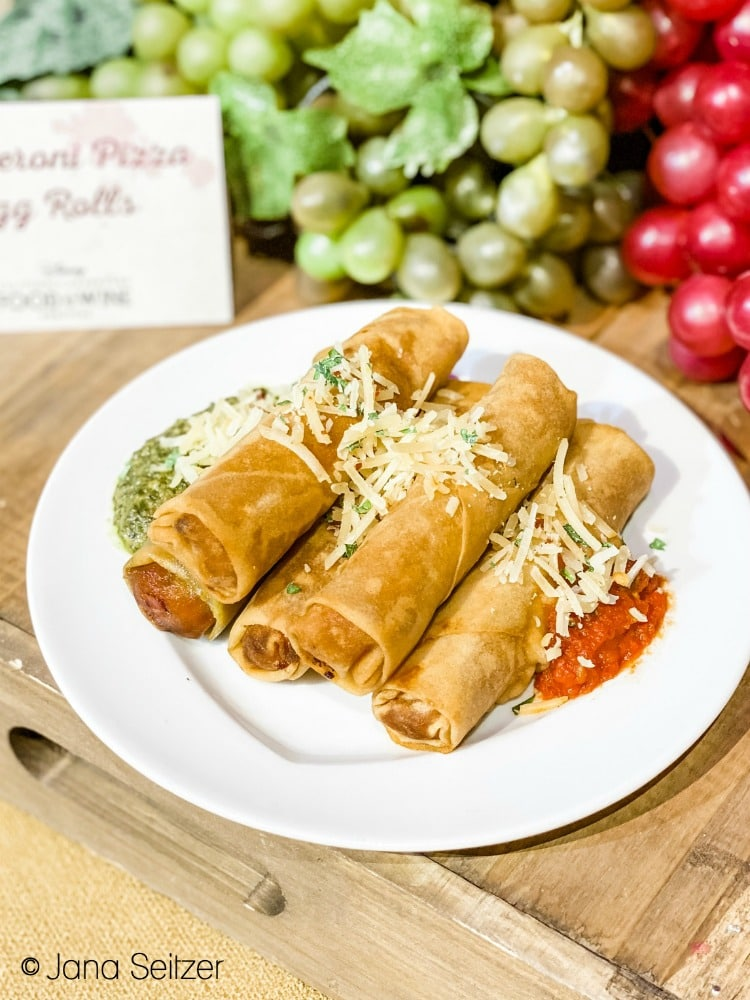 pepperoni pizza egg rolls disneyland food and wine festival