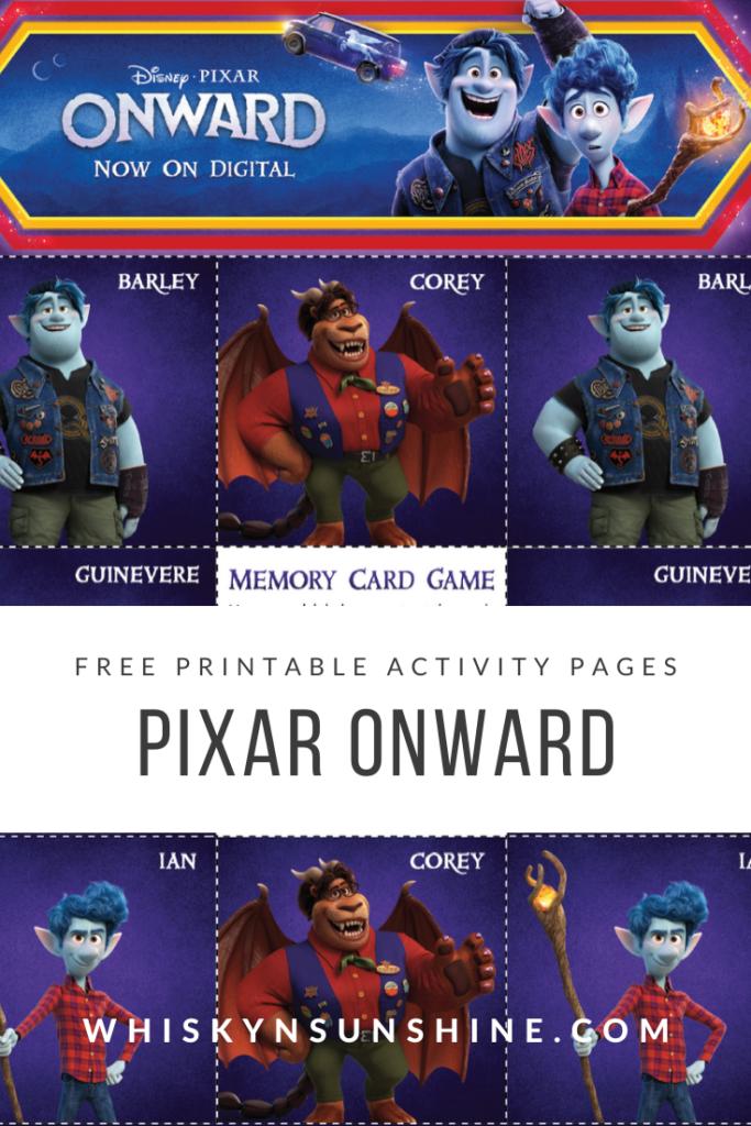 pixar onward activity pages