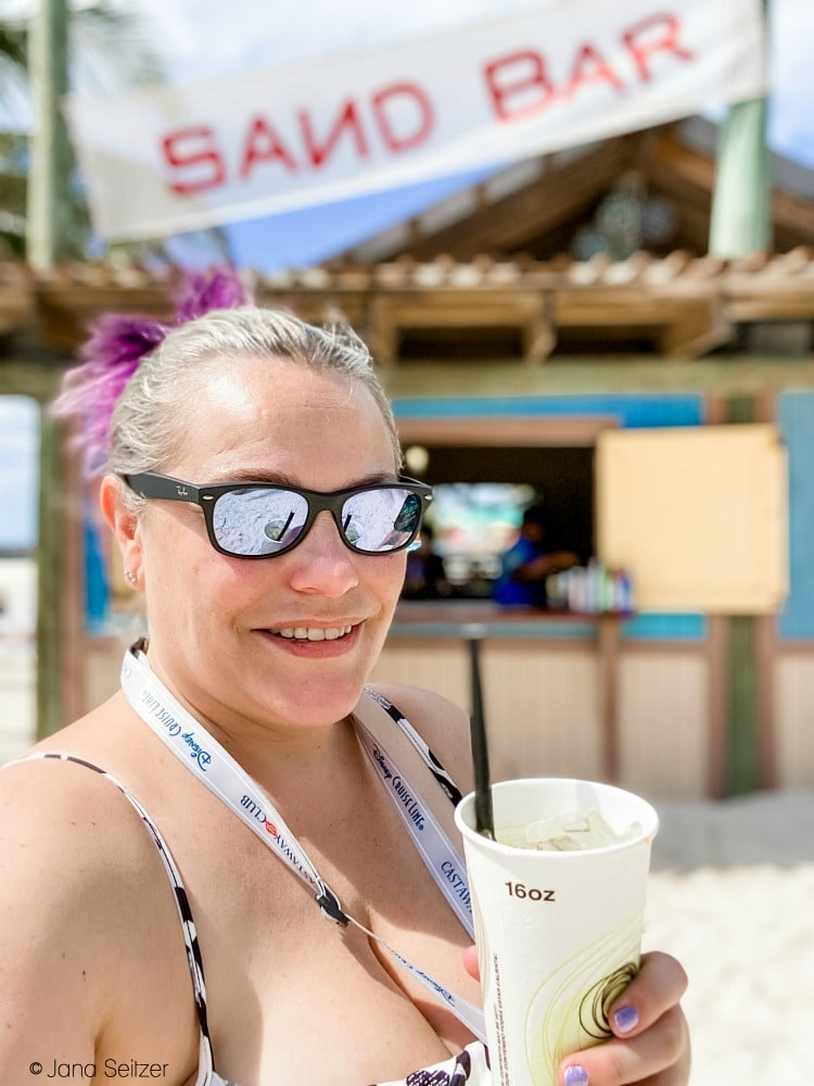 sand bar selfie disney castaway cay