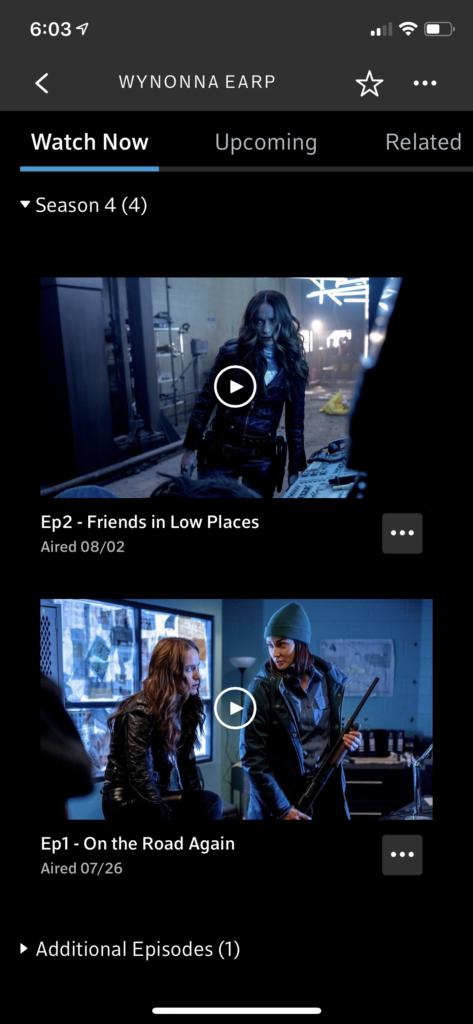 Wynonna Earp on Xfinity Stream App