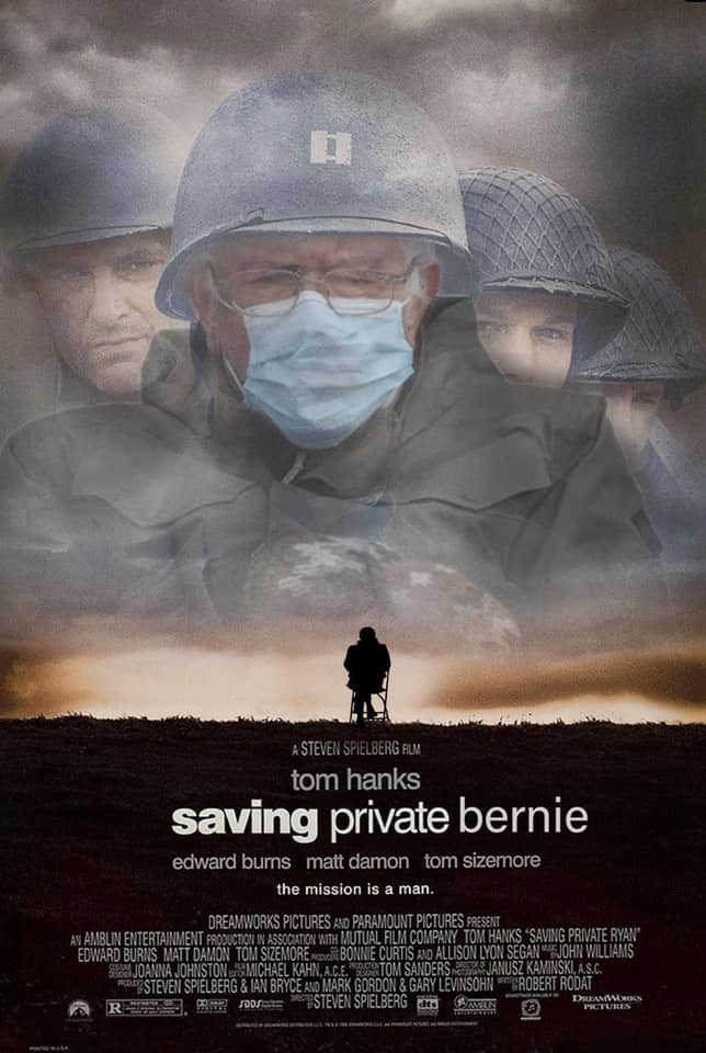 saving private ryan bernie meme