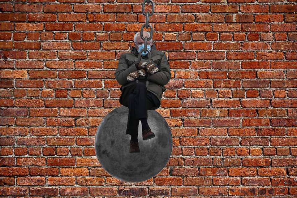 wrecking ball bernie meme