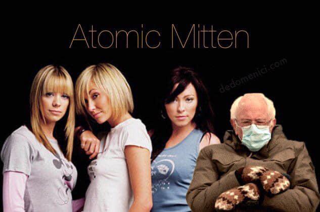atomic mitten bernie meme