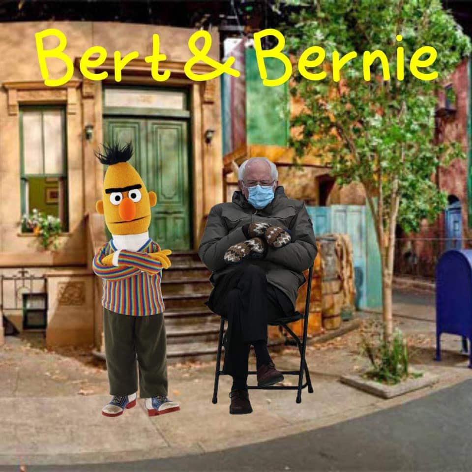 bert and bernie meme