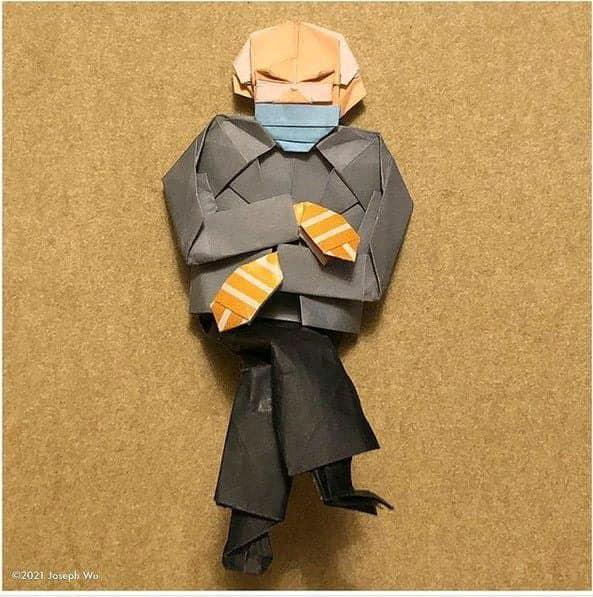 origami bernie