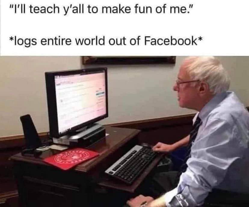 bernie facebook meme