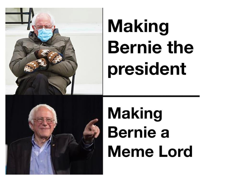 bernie president meme