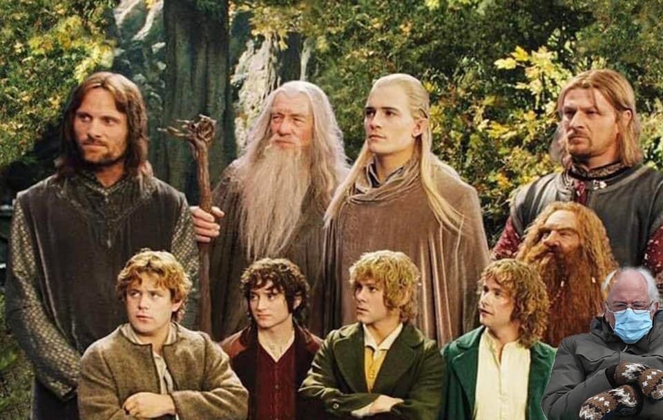 hobbit bernie meme