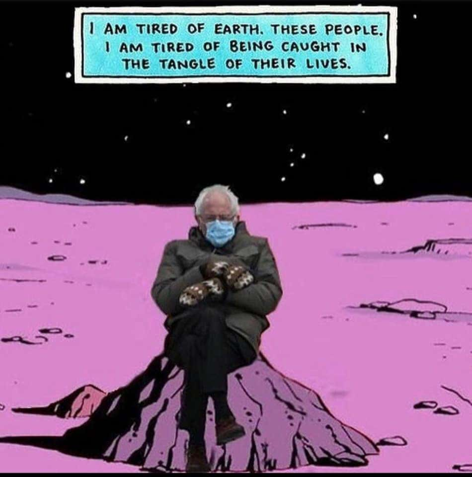 bernie space meme