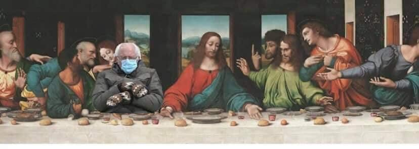 bernie last supper meme