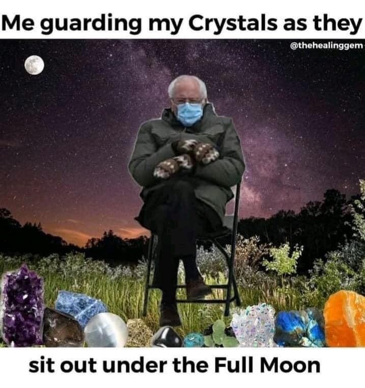 bernie crystal meme