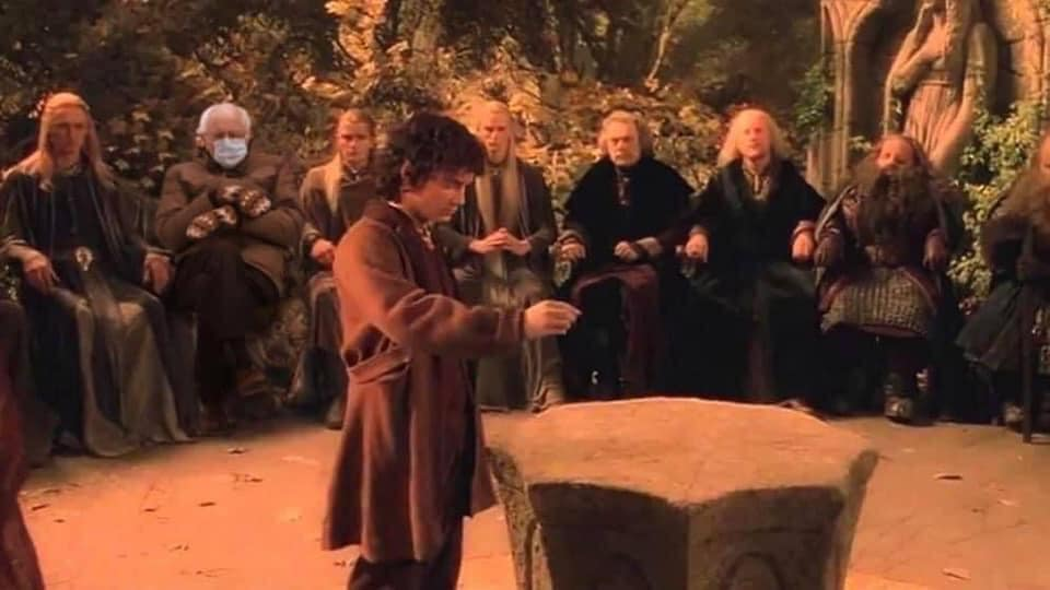 bernie hobbit meme