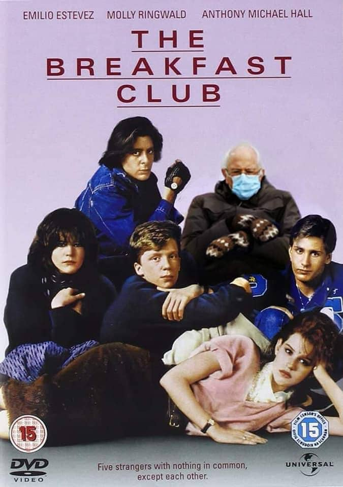 bernie breakfast club meme