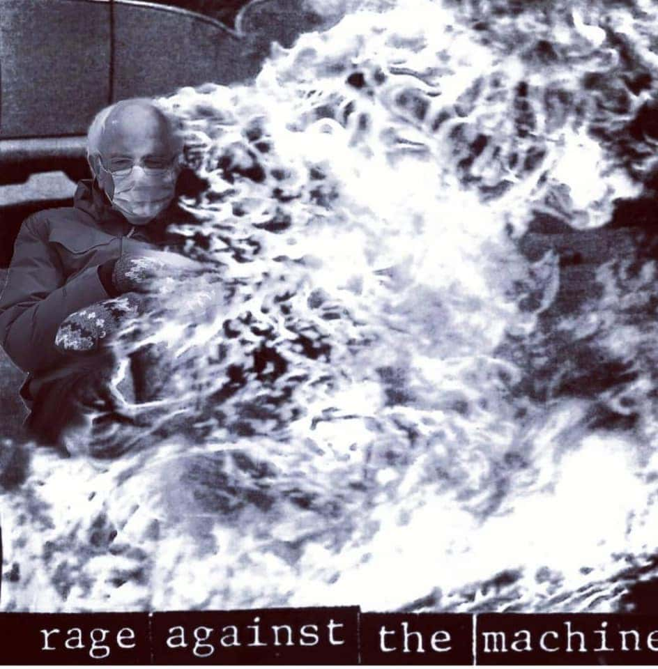 rage against the machine bernie meme