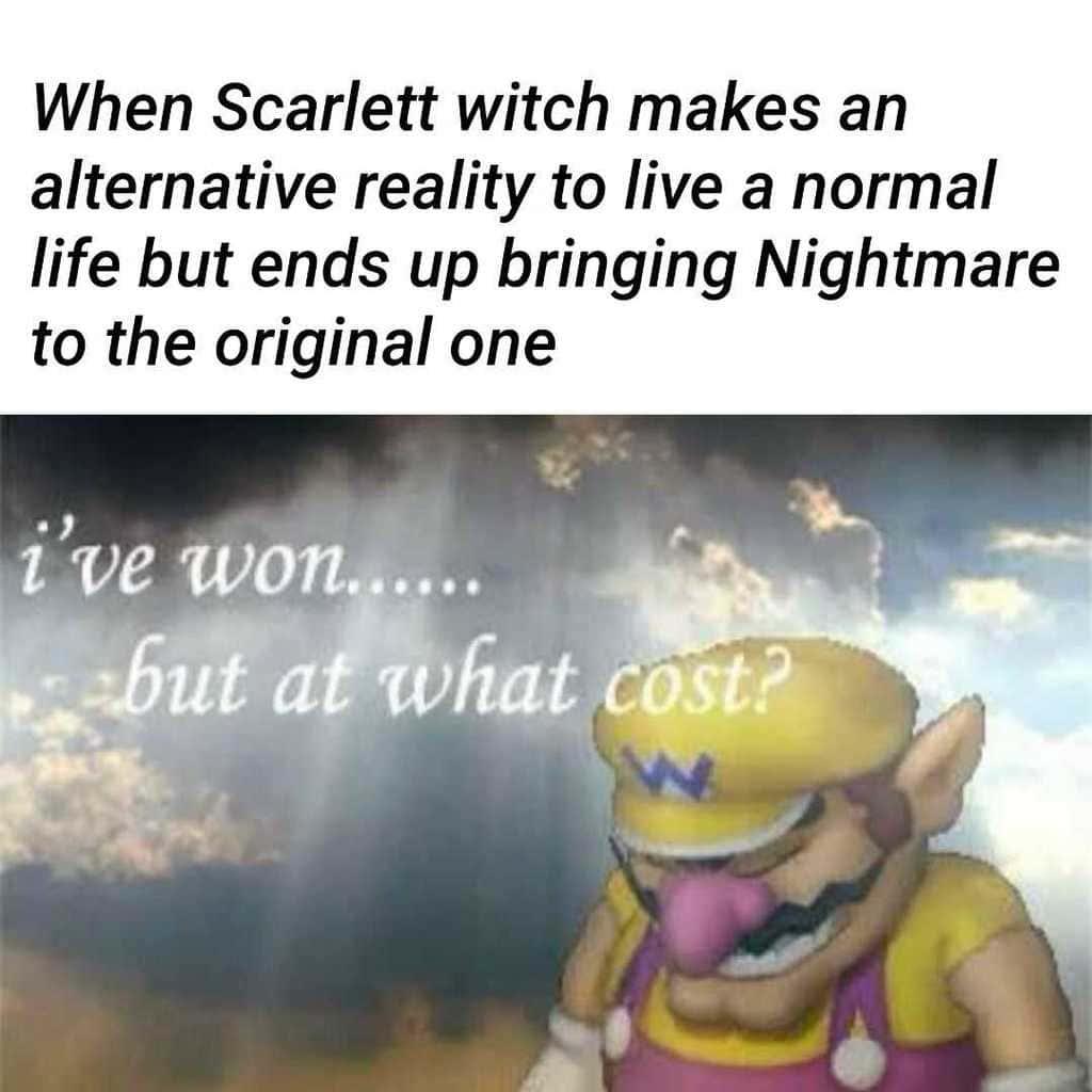 scarlet witch alternate reality meme